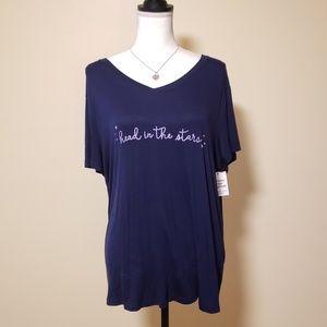NWT, Somoma Intimate Stars Sleepwear Shirt, XXL